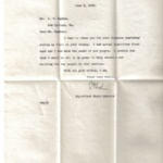 Letter Thanks for Kindness during Visit