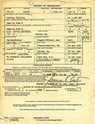 Report of Separation for Joseph N. Porter