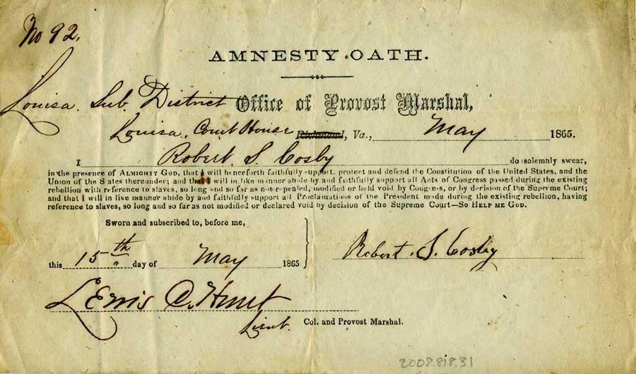 Civil War Amnesty Oath