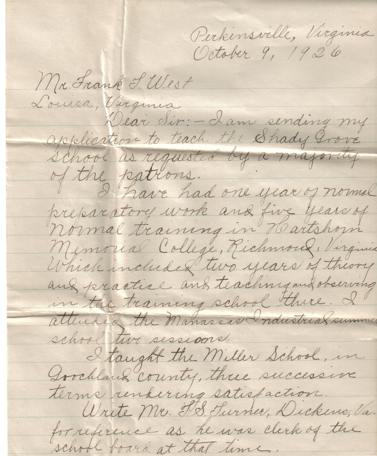 19261009 Letter - Letter Concerning Application.jpg