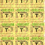 Mileage Ration Stamps and Folder