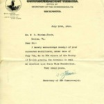 Letter to Clerk of Louisa Court from Secretary of the Commonwealth